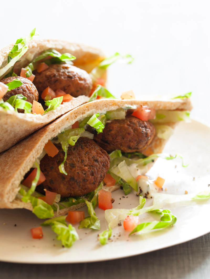 Falafel Pita Sandwiches Sandwich Recipe Spoon Fork Bacon
