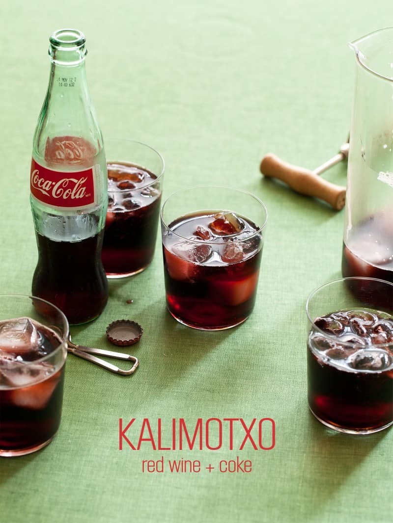 A recipe for Kalimotxo, red wine and coke.