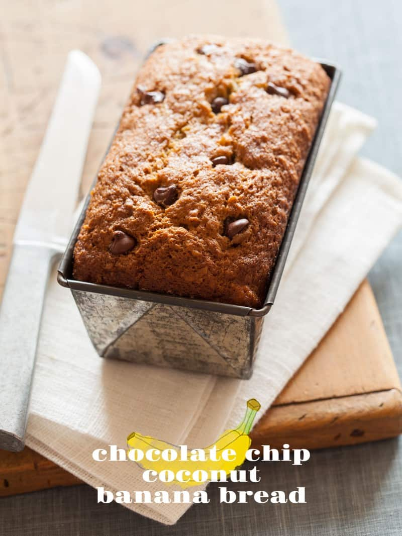 Chocolate Chip Coconut Banana Bread recipe.