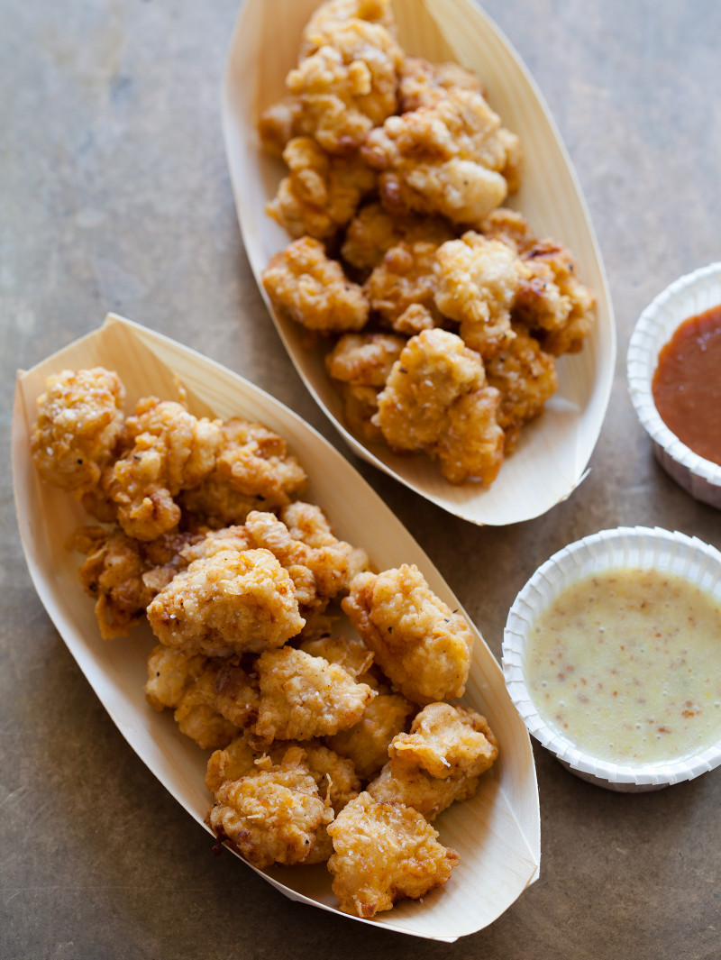 A recipe for Chicken Fried Sweetbread Nuggets.