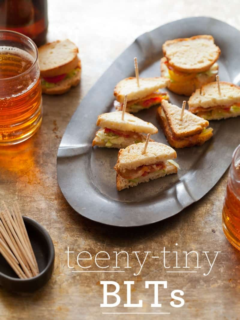 A recipe for Teeny Tiny BLTs.
