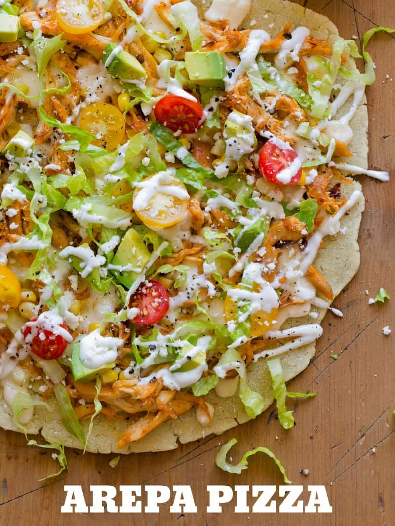 A recipe for an Arepa Pizza.