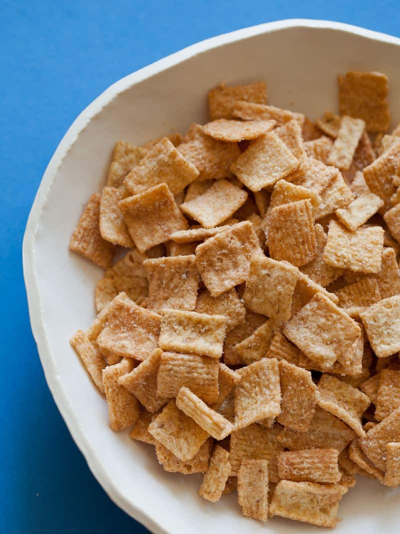 Cinnamon Toast Crunch used as an ingredient for Cinnamon Toast Crunch Coffee Cake Bites.