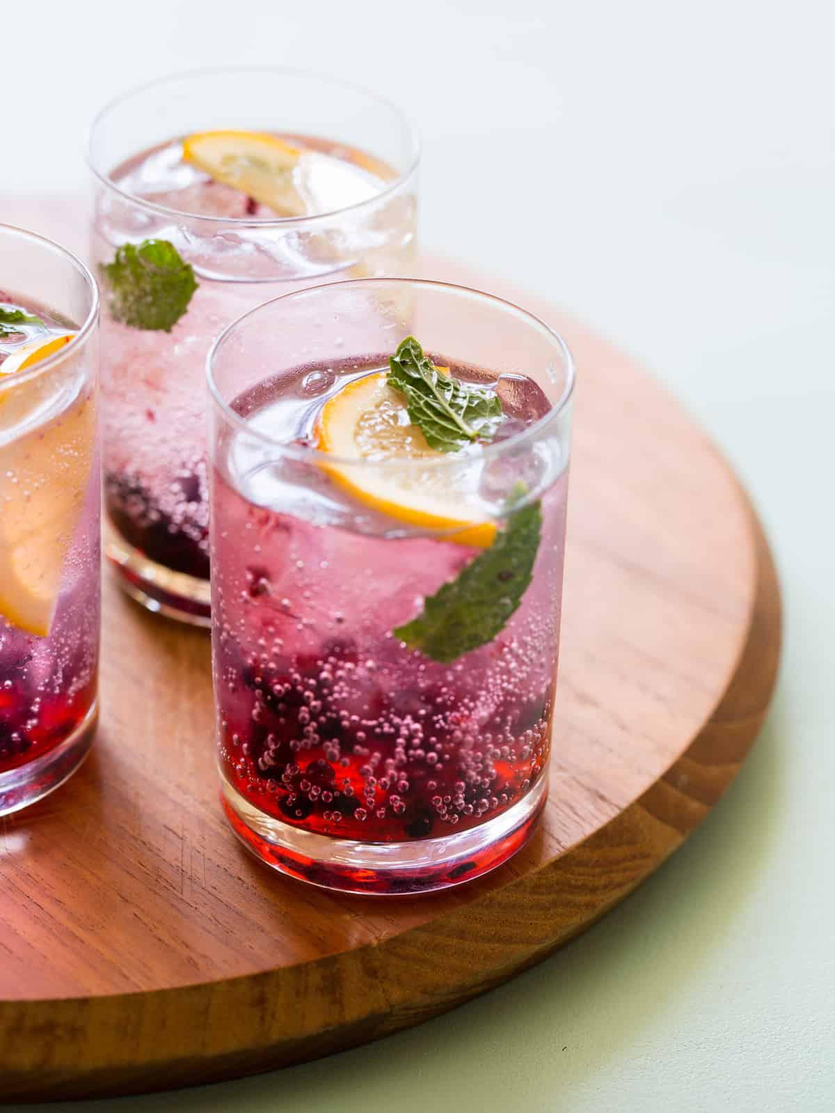 Blackberry & Meyer Lemon Gin & Tonics | Spoon Fork Bacon