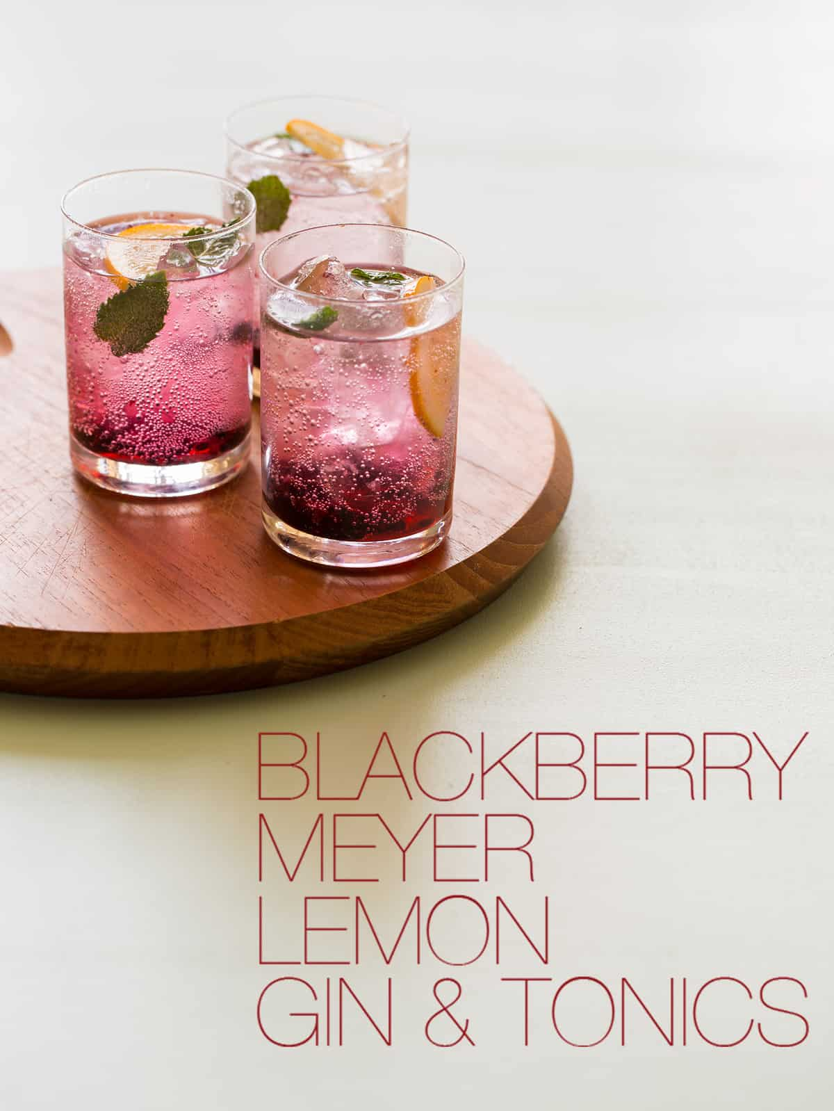Blackberry & Meyer Lemon Gin & Tonics | Spoon Fork Bacon
