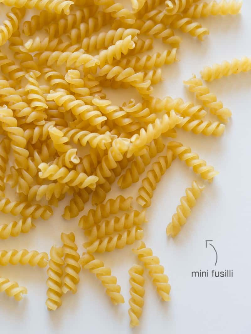 Mini fusilli for Pumpkin Thyme Mac and Cheese.