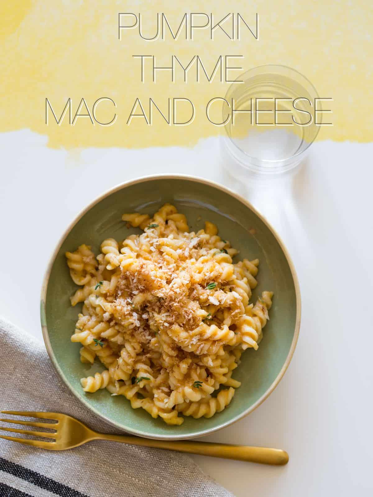 Pumpkin Thyme Mac and Cheese | Spoon Fork Bacon