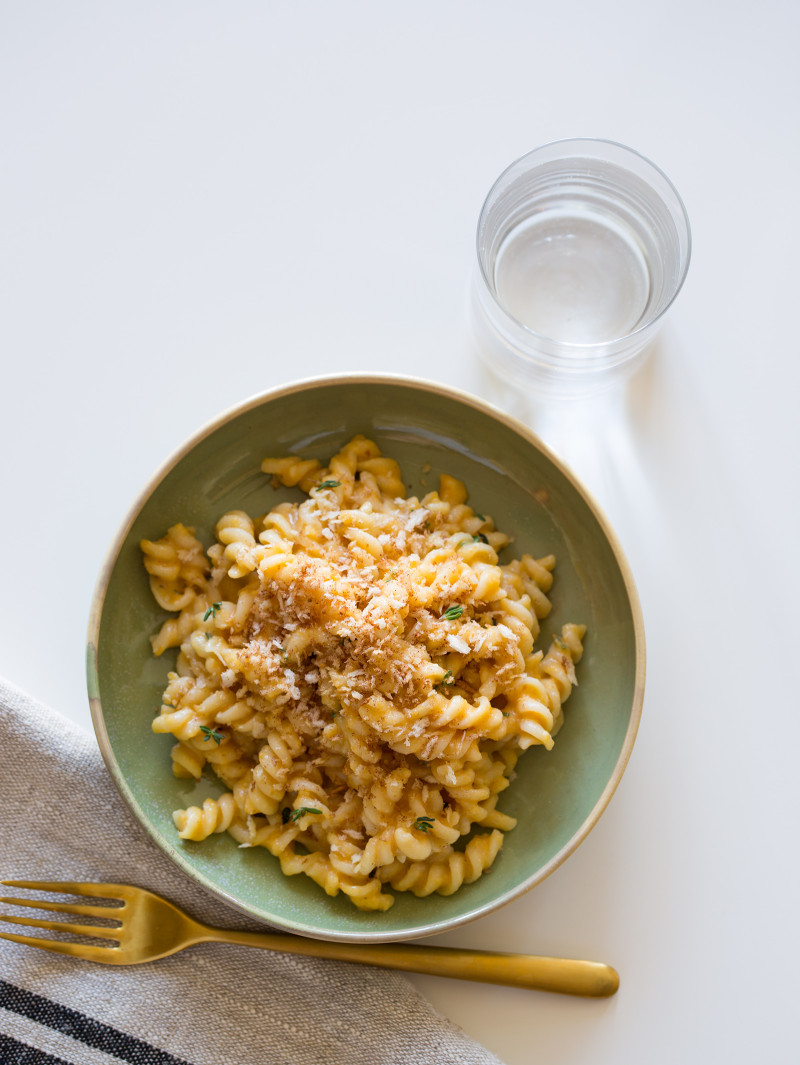 A recipe for Pumpkin Thyme Mac and Cheese