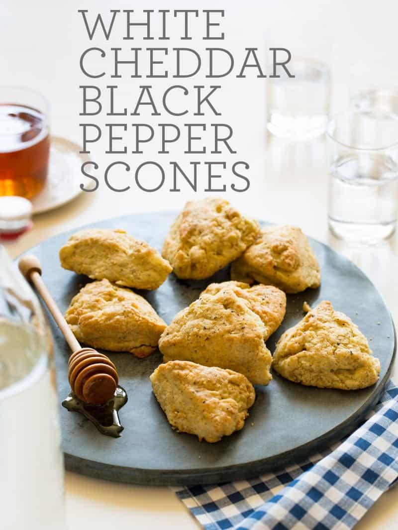 A recipe for White Cheddar Black Pepper Scones.