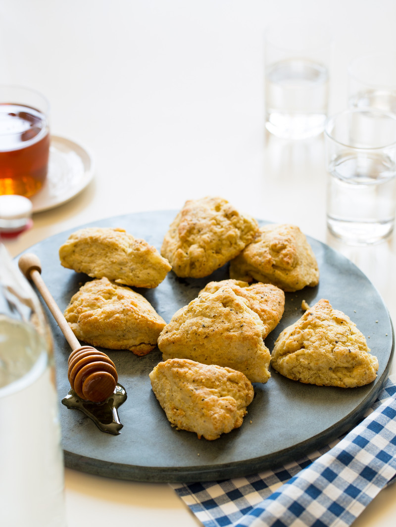 A recipe for White Cheddar Black Pepper Scones.