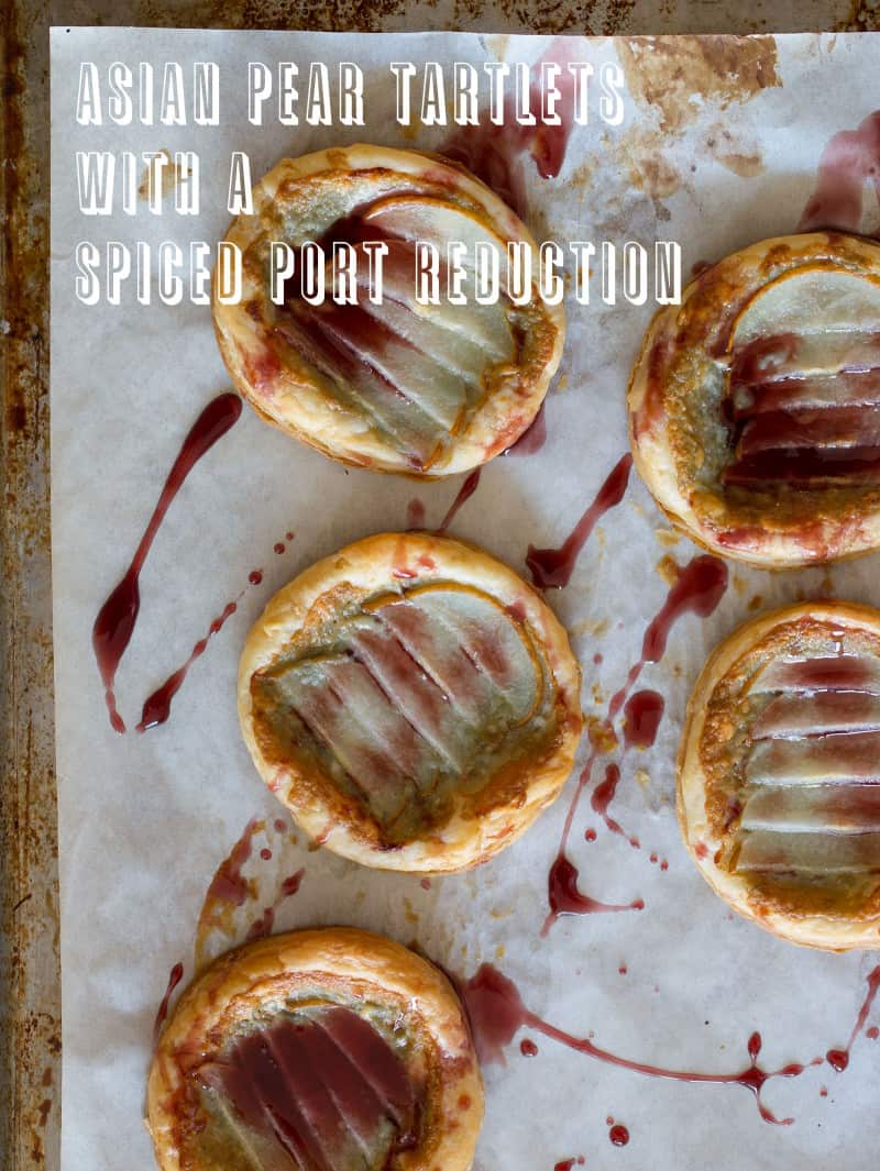A beautiful dessert recipe for Asian Pear Tartlets