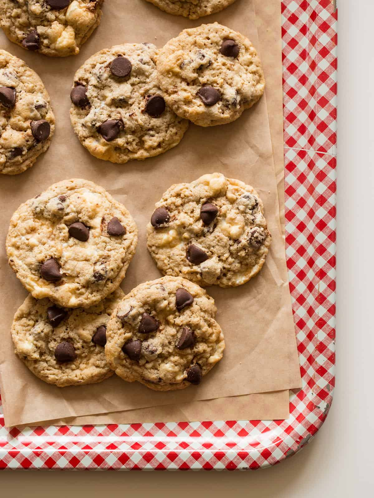 Chocolate Chip Rice Krispies Treat Cookies | Spoon Fork Bacon
