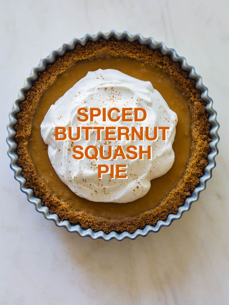 A recipe for Spiced Butternut Squash Pie.