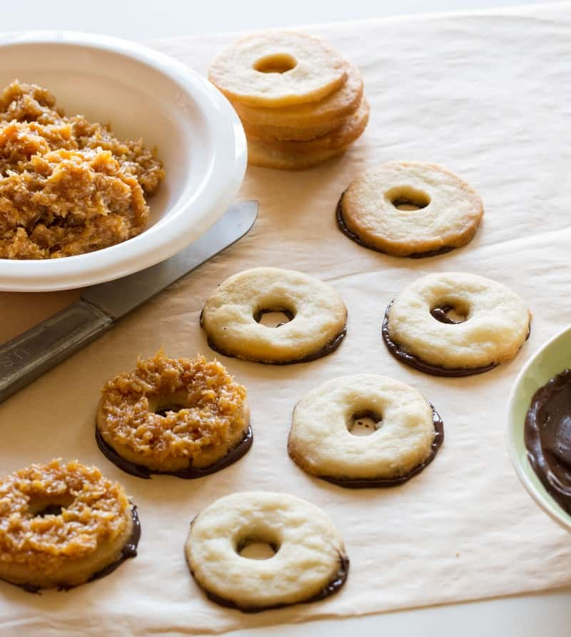Caramel delite recipe. A Girl Scout Cookie.