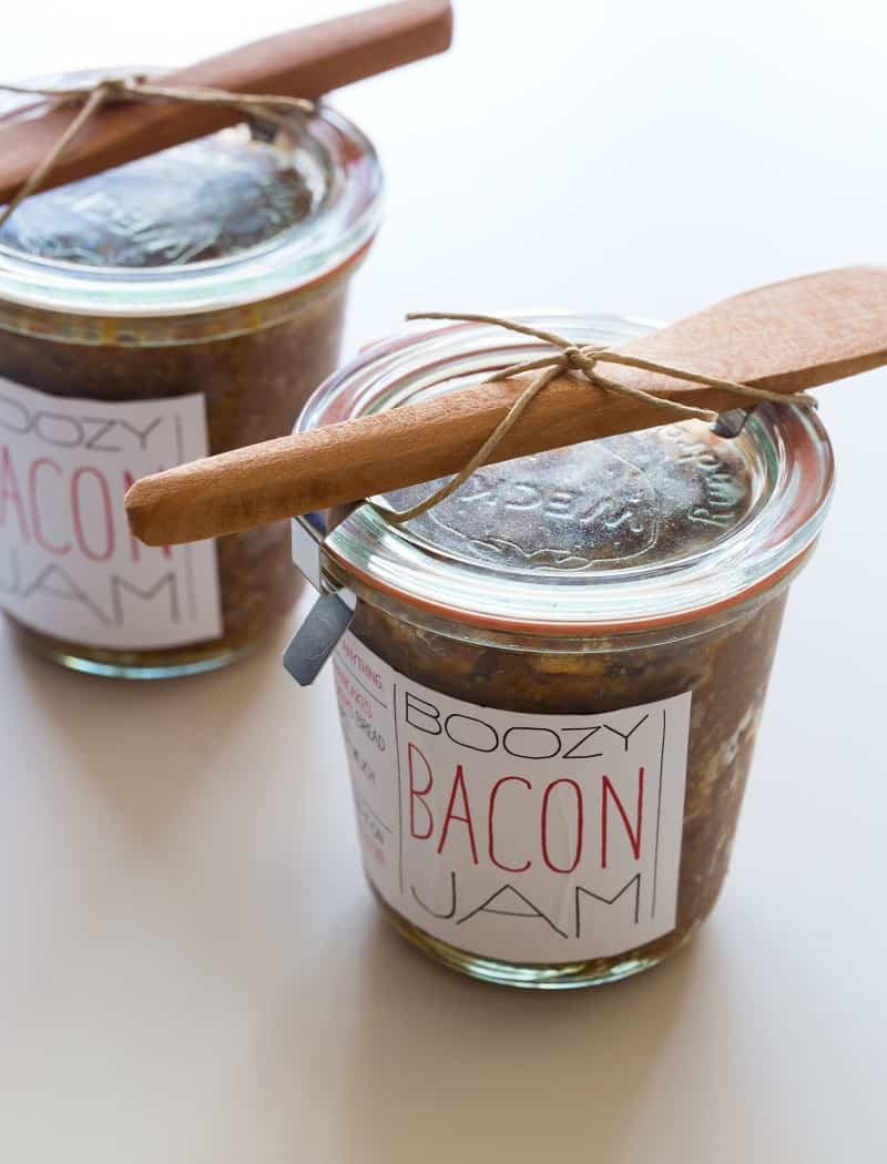 Bacon Jam gift with downloadable labels.