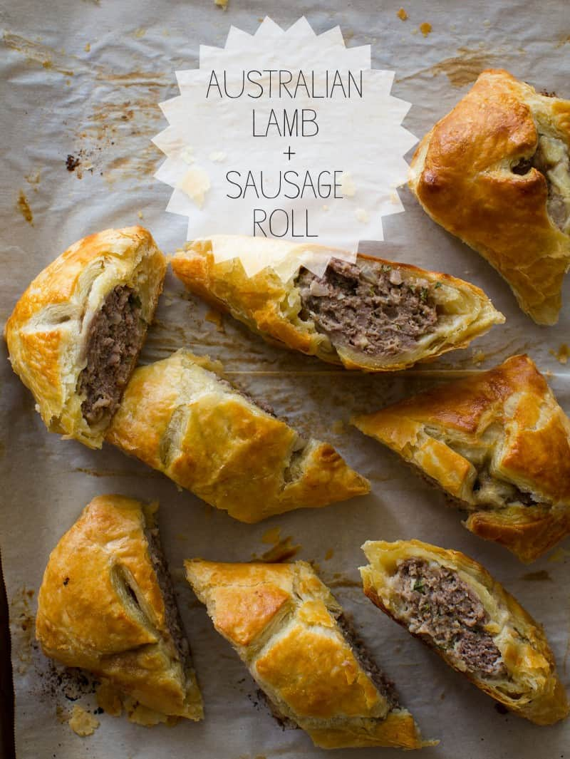 A recipe for an Australian Lamb and Sausage Roll
