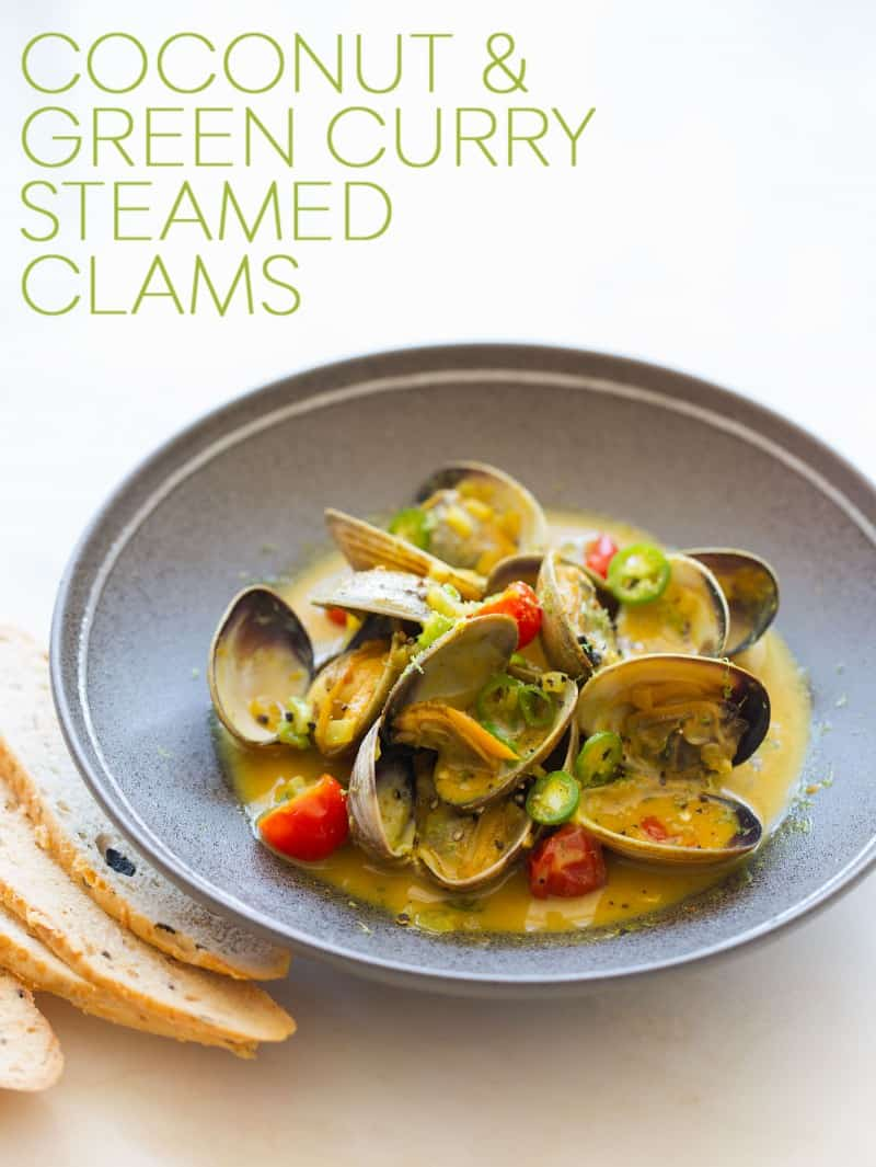 Coconut Green Curry Steamed Clams recipe.