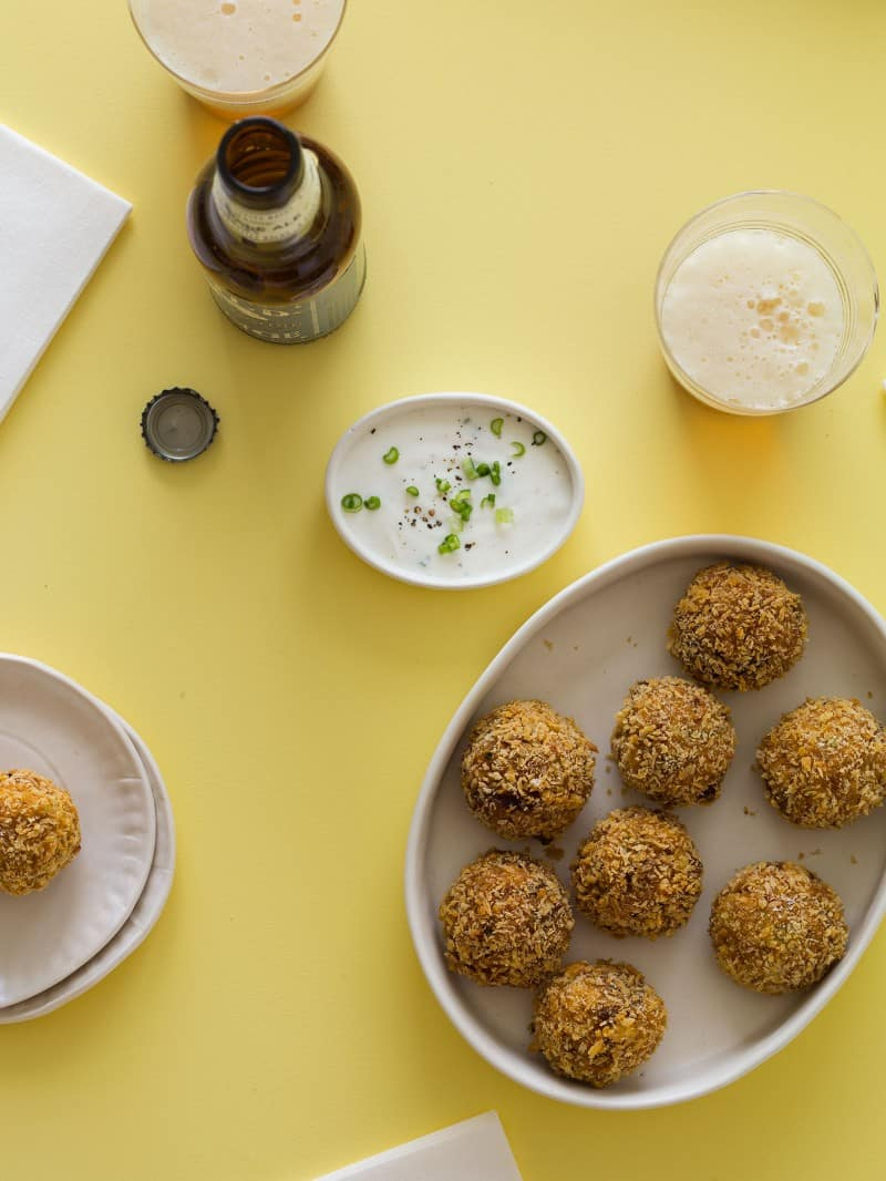 A great appetizer recipe for Kimchi Fried Rice Balls.