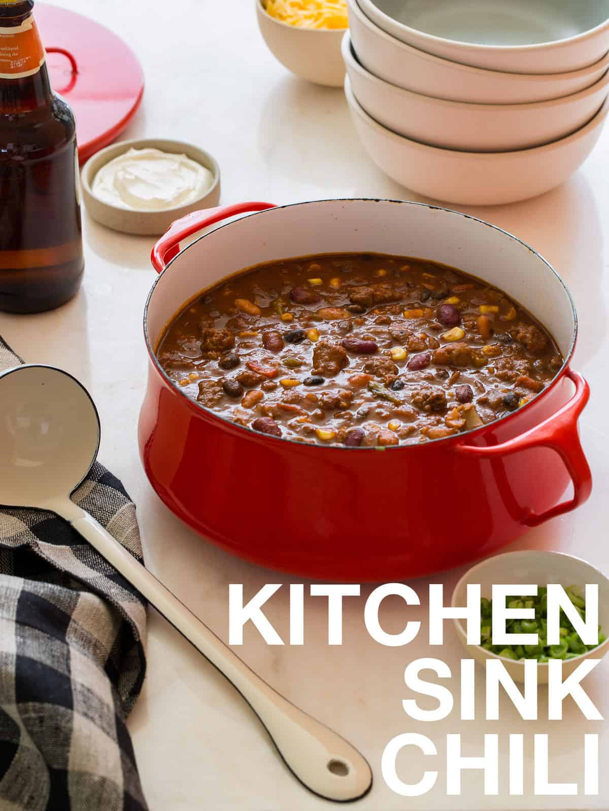 the kitchen sink recipes kitchen sink chili chili recipe spoon fork bacon 6078
