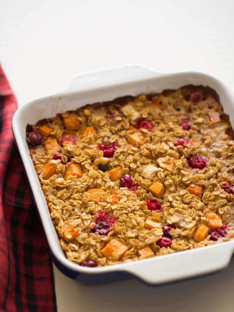 Persimmon and Cranberry Baked Oatmeal recipe with coconut milk.