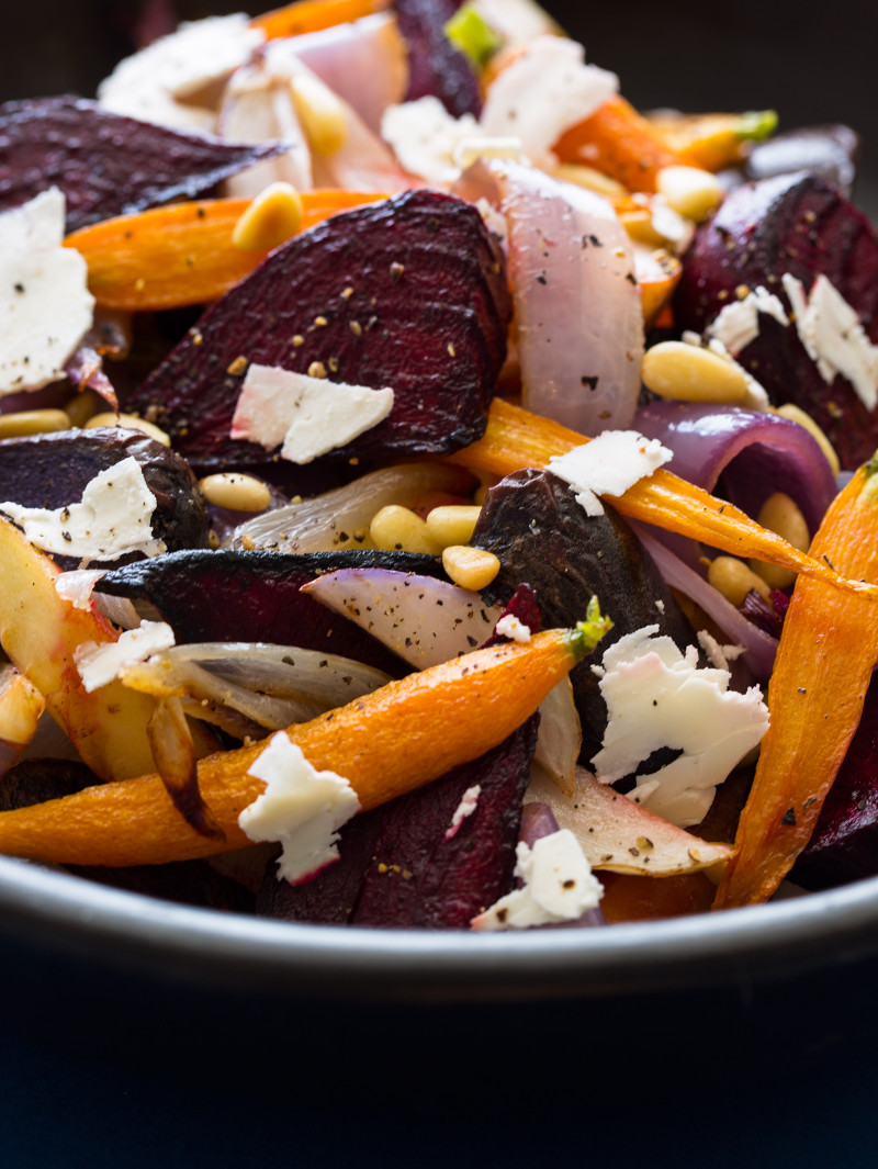 A recipe for a A Winter Root Vegetable Salad.