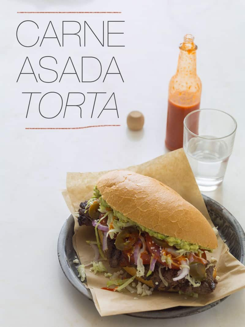 A recipe for Carne Asada Torta.