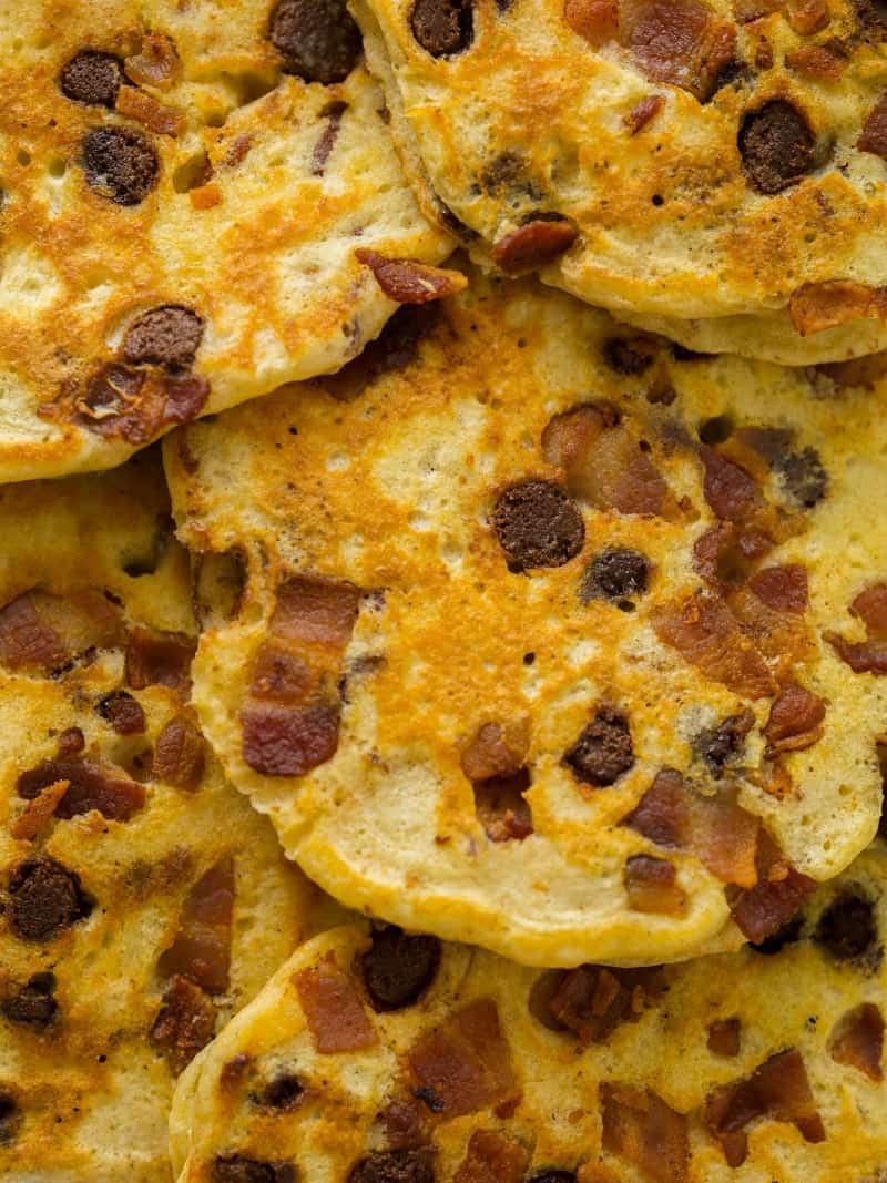Chocolate Chip Bacon and Orange Kissed Pancake recipe.