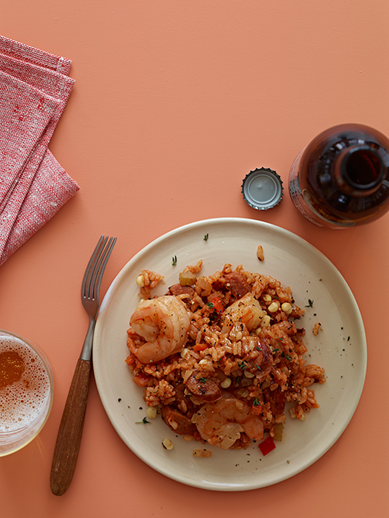 A recipe for shrimp and Andouille Jambalaya