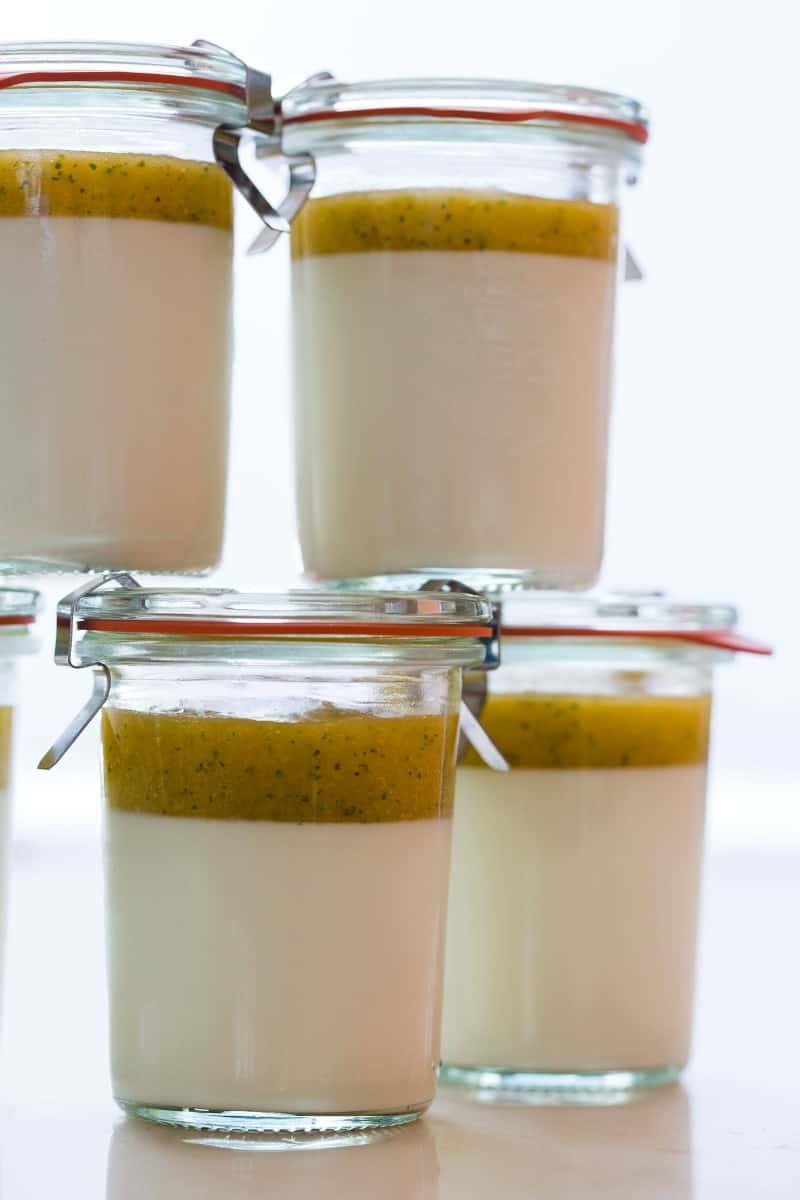 Simple Vanilla Bean Panna Cotta recipe.