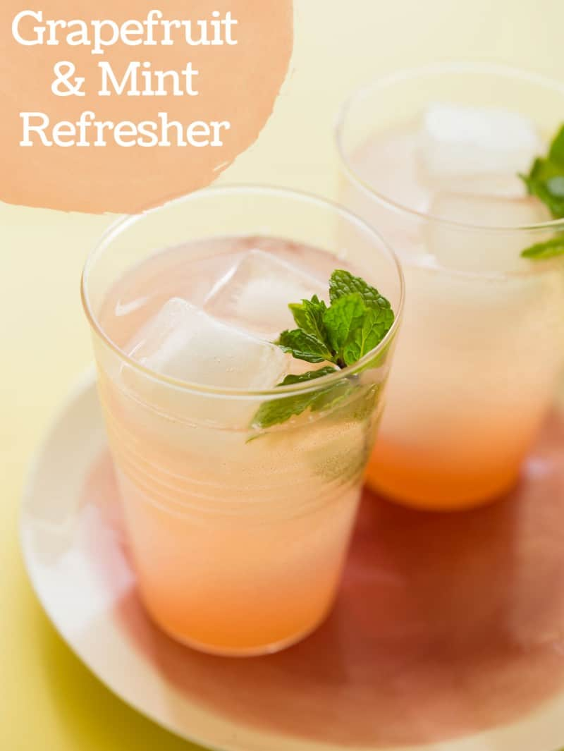 Grapefruit and Mint Refresher cocktail recipe.