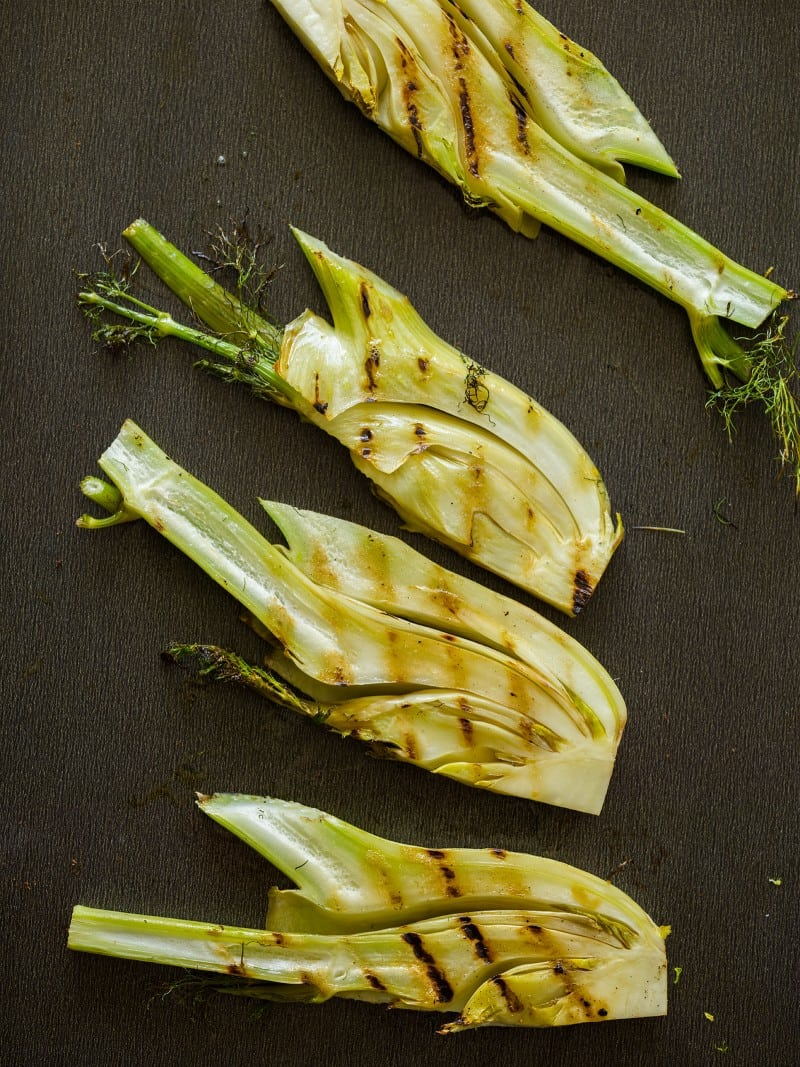 Grilled fennel for Grilled Fennel Tarts.