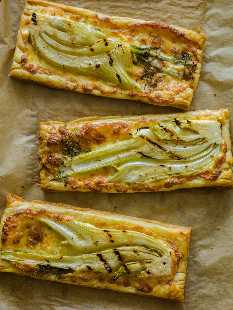 A recipe for Grilled Fennel Tarts.