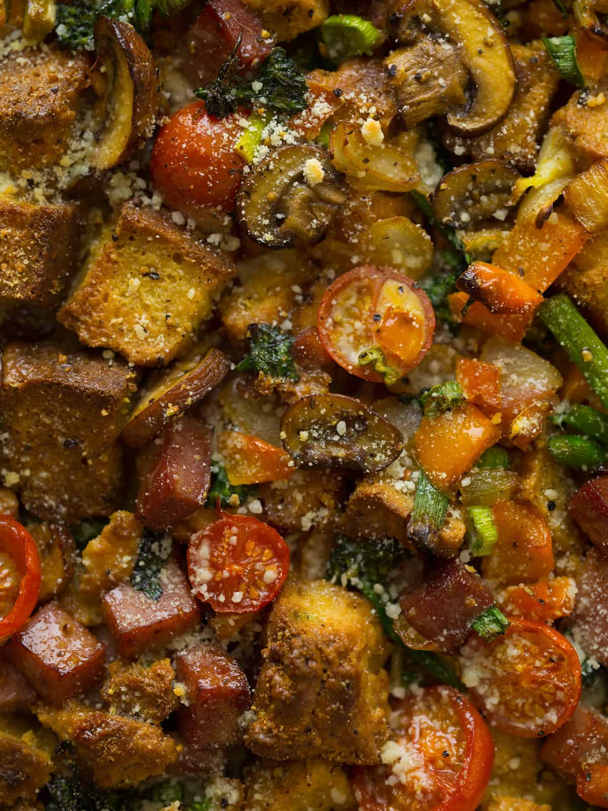 Savory Bread Pudding Dinner Recipe Spoon Fork Bacon