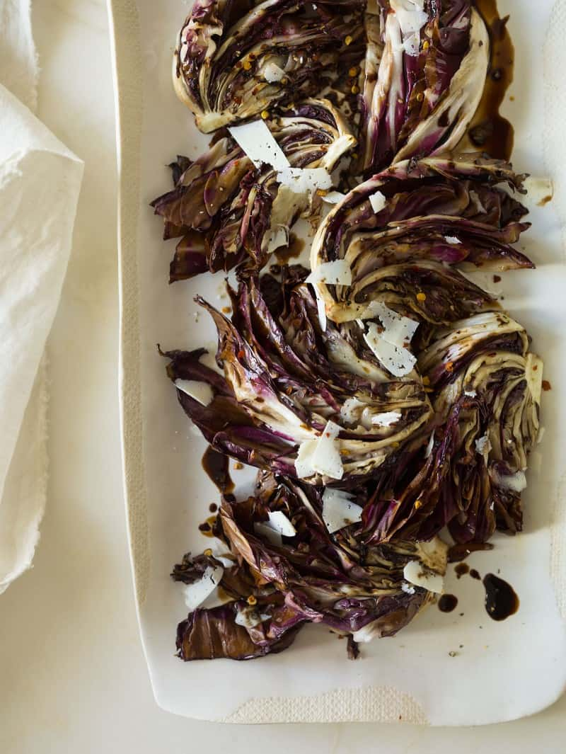 A recipe for Simple Grilled Radicchio with a balsamic drizzle.
