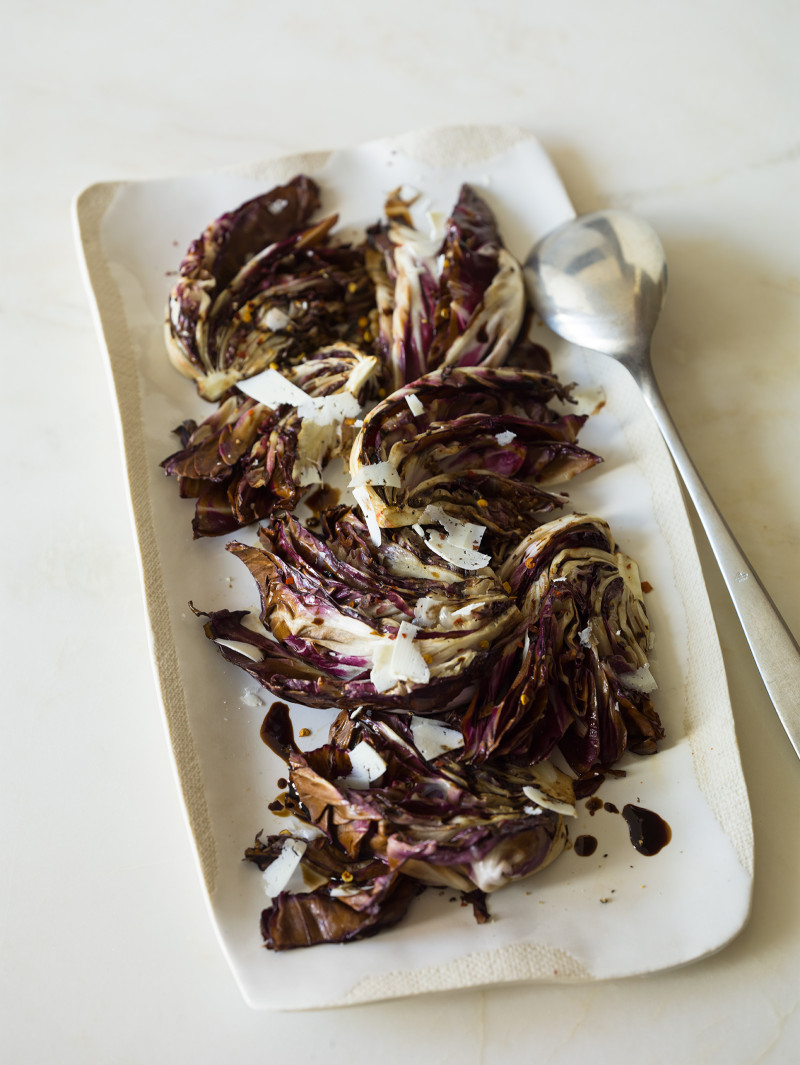 A recipe for Simple Grilled Radicchio.