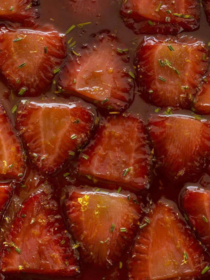 Strawberry & Rosemary Tarte Tatin recipe