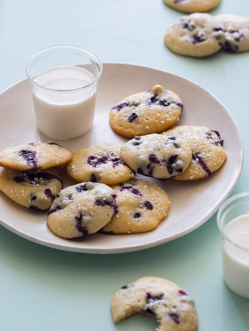 A recipe for Blueberry Yogurt Cookies.