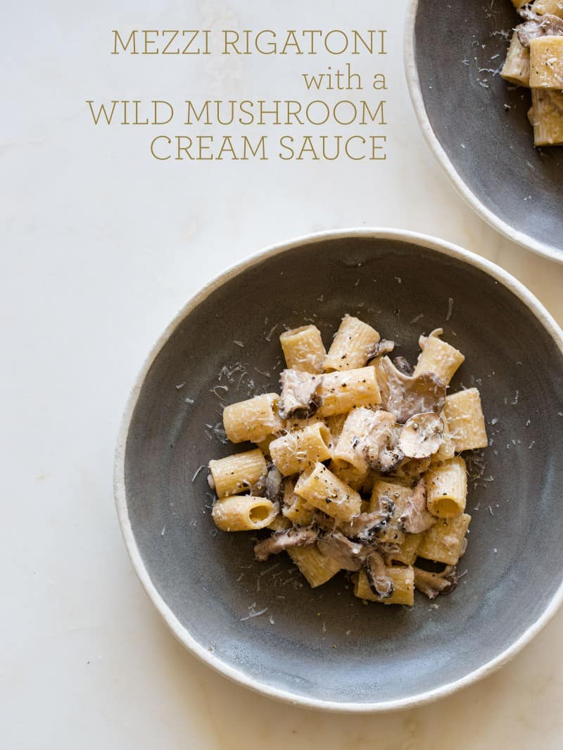 Mezzi Rigatoni with a Wild Mushroom Cream Sauce recipe