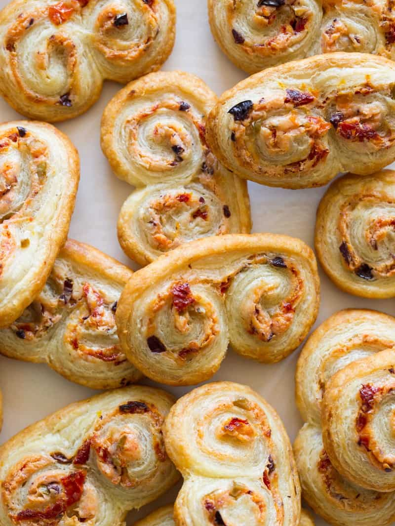 Sun Dried Tomato and Goat Cheese Palmiers recipe.