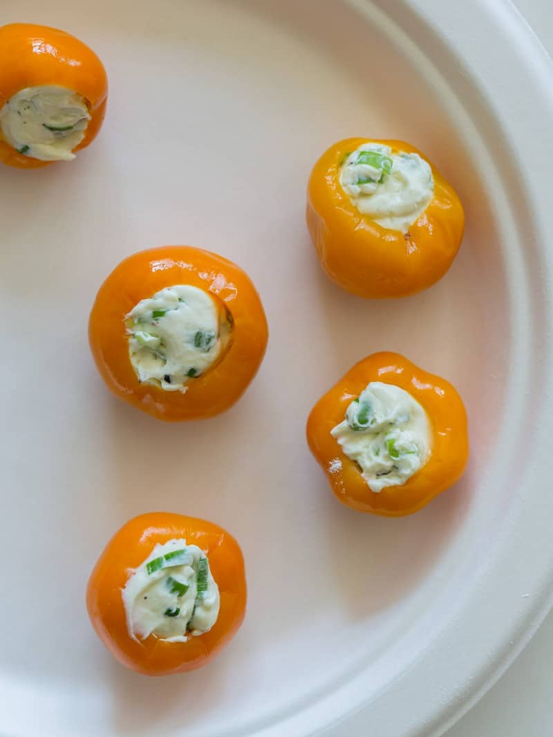 Peppadew peppers stuffed with cheese