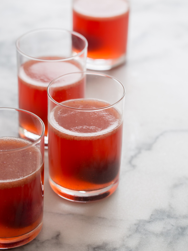 Sweet Cherry Ginger Spiked Soda cocktail recipe