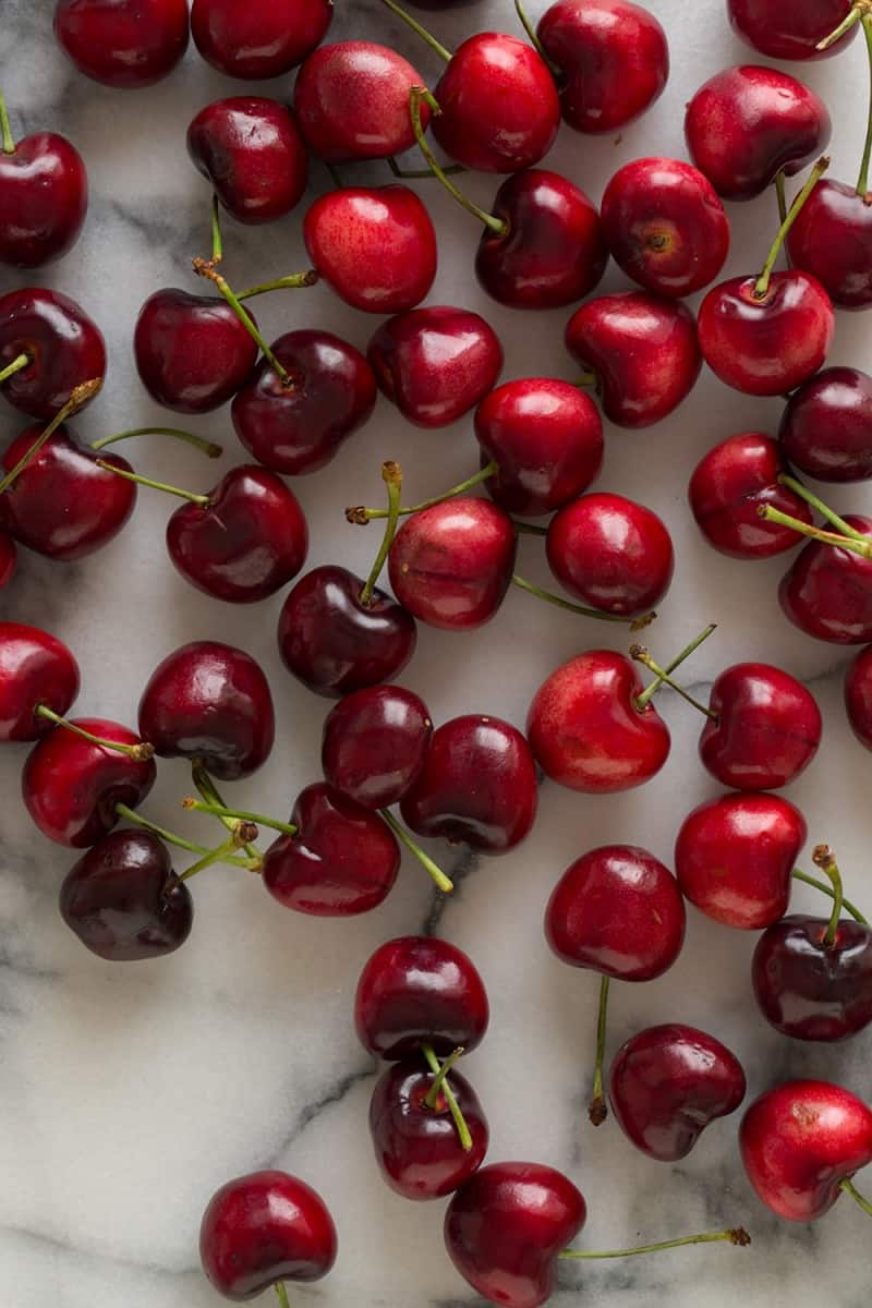 Seasonal cherries for our Sweet Cherry Ginger Spiked Soda