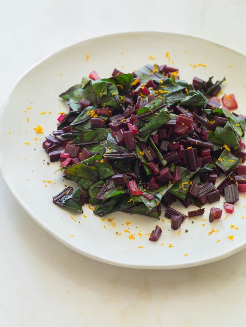 A recipe for Citrus Sautéed Beet Stems