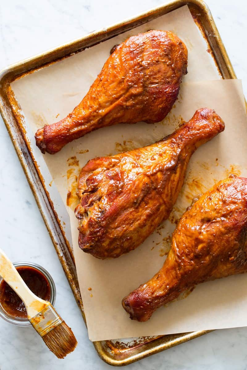 Bbq Turkey Drumsticks Recipe Spoon Fork Bacon