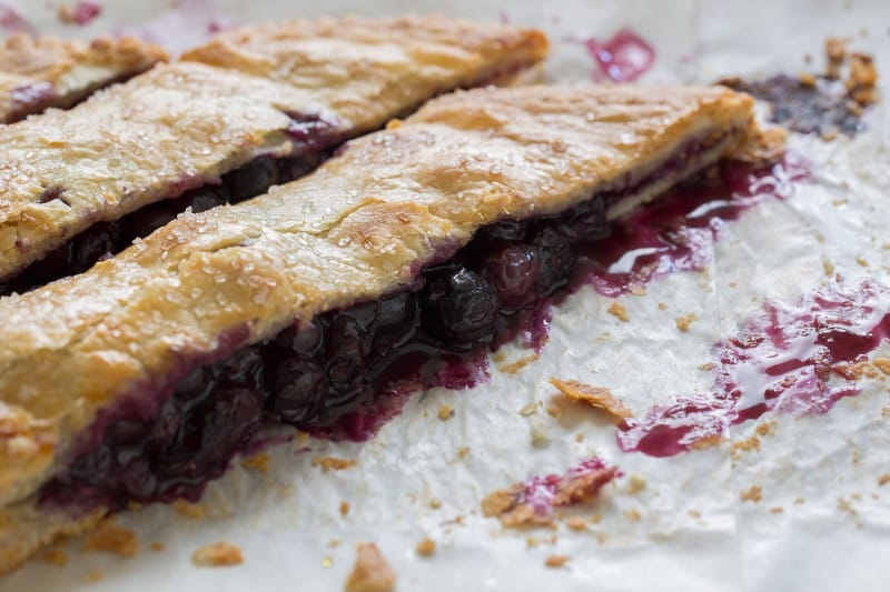 Blueberry Slab Pie dessert recipe