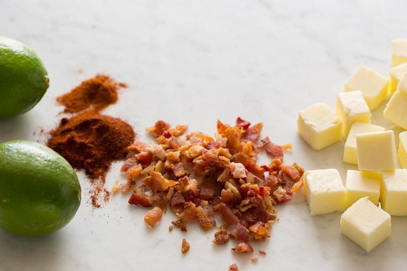 Bacon Lime Chili Butter ingredients