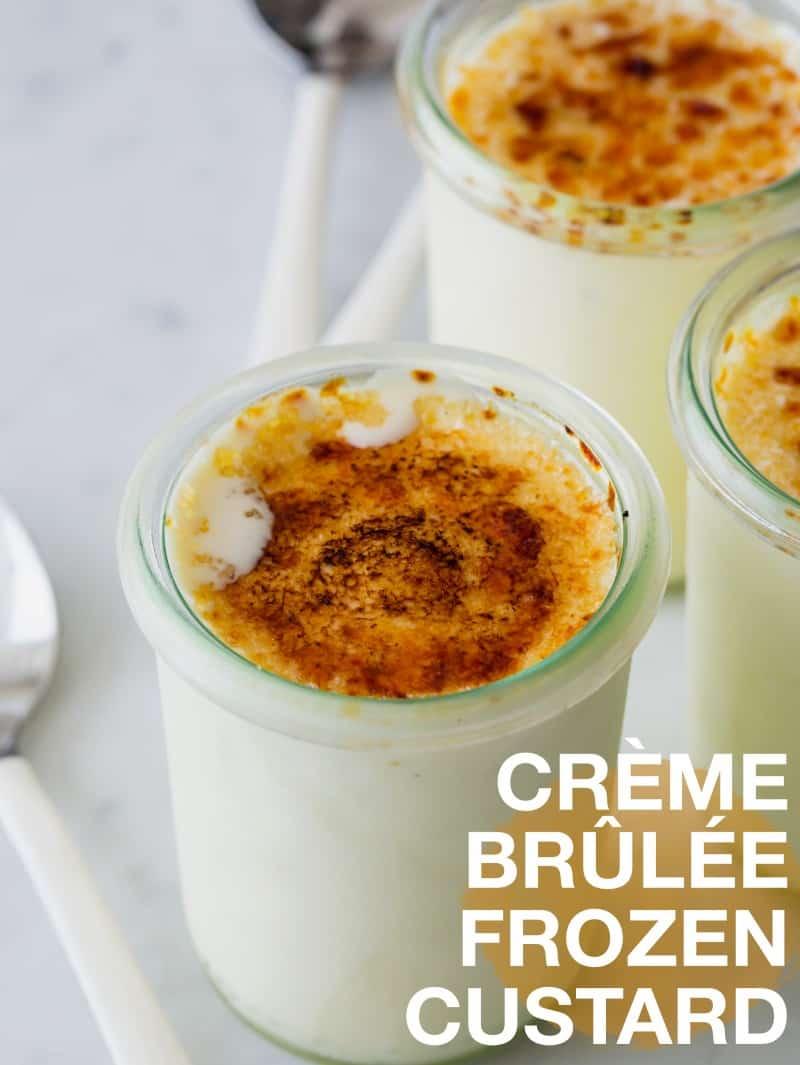 Crème Brûlée Frozen Custard