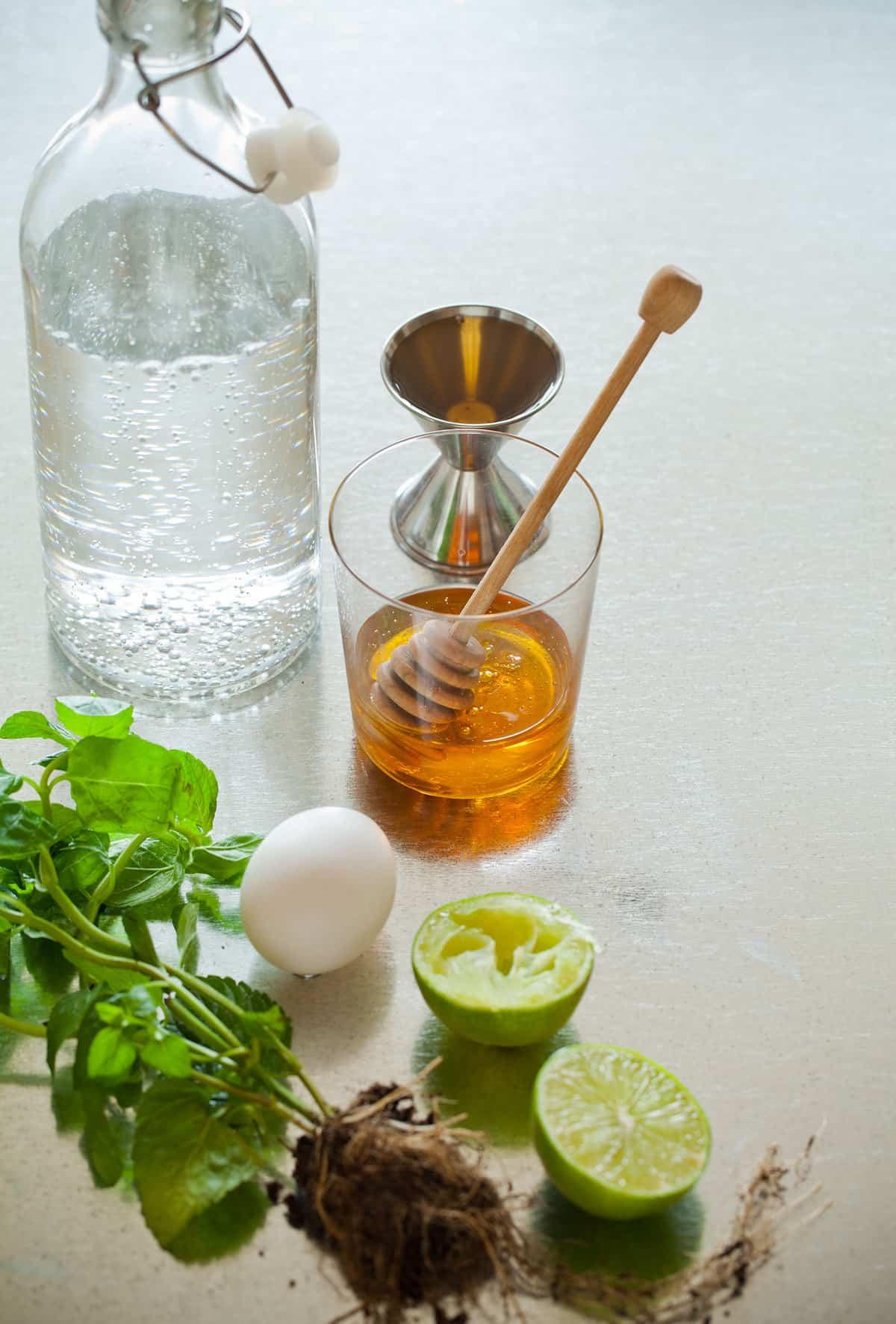 Honey Rum Fizz Cocktail Recipe Spoon Fork Bacon