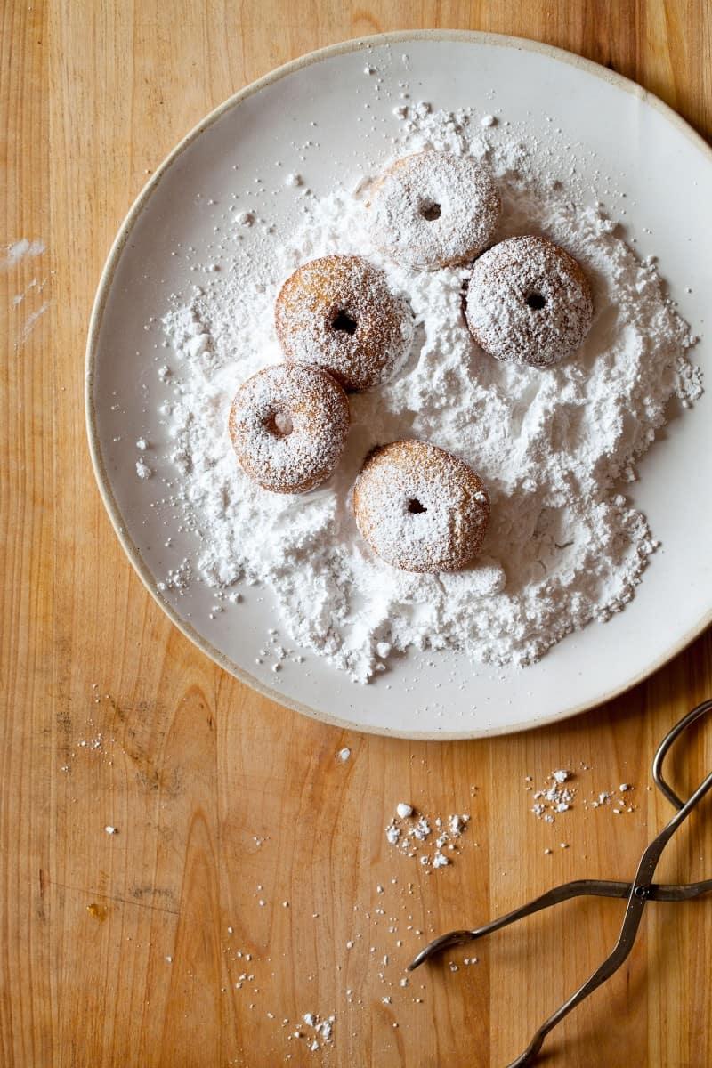 Powdered Sugar No Yeast Cake Doughnuts