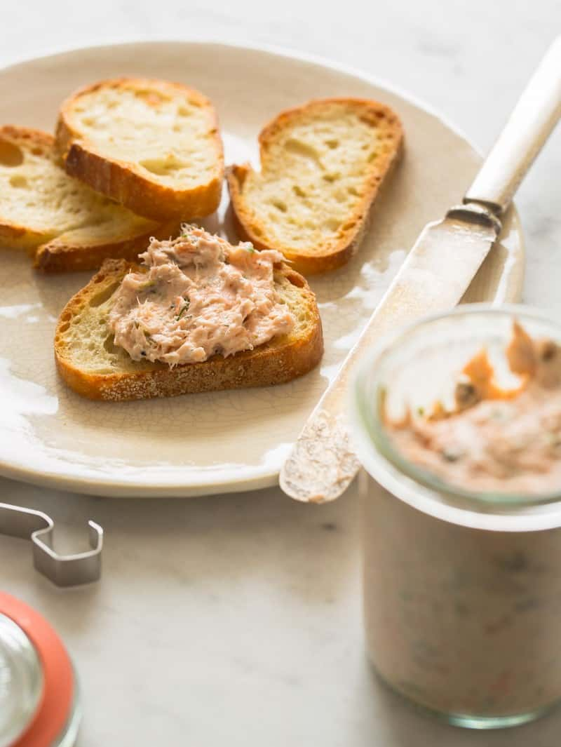 Salmon Rillettes appetizer recipe